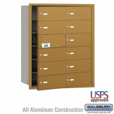 Salsbury 3612GFU 4B Mailboxes 11 Tenant Doors Front Loading - USPS Access