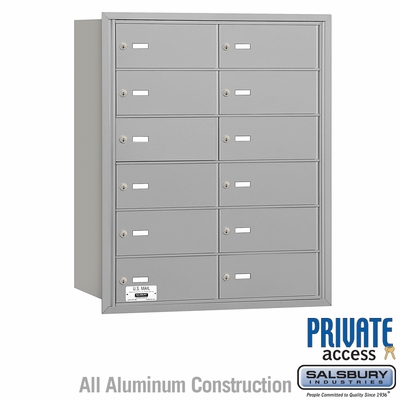 Salsbury 3612ARP 4B Mailboxes 12 Tenant Doors Rear Loading - Private Access