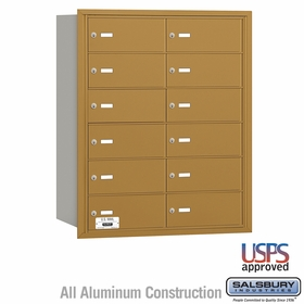 Salsbury 3612GRU 4B Mailboxes 12 Tenant Doors Rear Loading - USPS Access