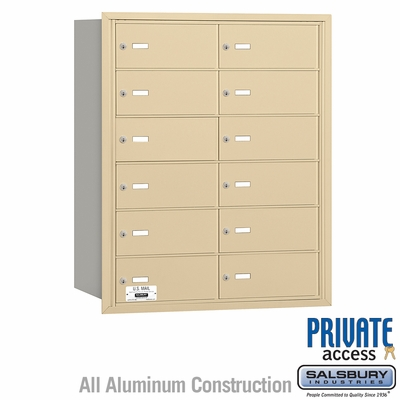 Salsbury 3612SRP 4B Mailboxes 11 Tenant Doors Rear Loading - Private Access