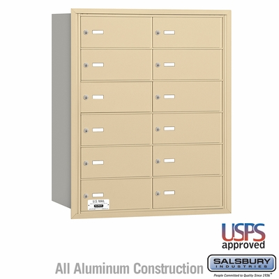 Salsbury 3612SRU 4B Mailboxes 12 Tenant Doors Rear Loading - USPS Access