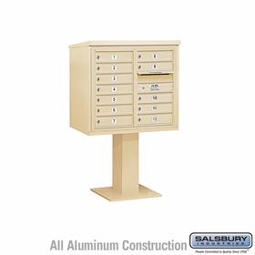 4C Pedestal Mailboxes - 11 to 12 Doors
