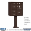 Salsbury 3312BRZ-P 12 Door Cluster Mailbox Bronze - Private Access