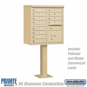 12 Door Cluster Mailboxes for Private Delivery