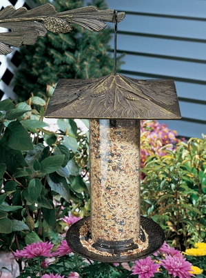 "Whitehall 12"" Pinecone Tube Feeder - Oil Rub Bronze"