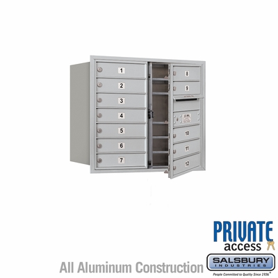 Salsbury 3707D-12AFP 4C Mailboxes 12 Tenant Doors Front Loading