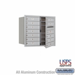 4C Mailboxes Front Loading 7 Door High Unit