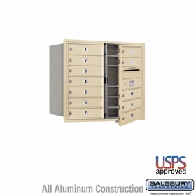 Salsbury 3707D-12SFU 4C Mailboxes 12 Tenant Doors Front Loading