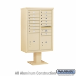 4C Pedestal Mailboxes with Parcel Lockers - 13 to 14 Doors