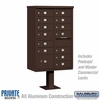 Salsbury 3313BRZ-P 13 Door Cluster Mailbox Bronze - Private Access