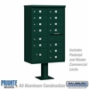 Salsbury 3313GRN-P 13 Door Cluster Mailbox Green - Private Access