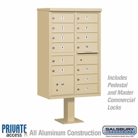 13 Door Cluster Mailboxes for Private Delivery