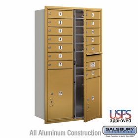 Salsbury 3713D-13GFU 4C Mailboxes 13 Tenant Doors Front Loading