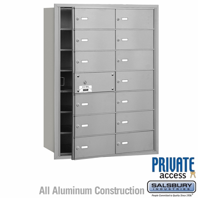 Salsbury 3614AFP 4B Mailboxes 13 Tenant Doors Front Loading - Private Access