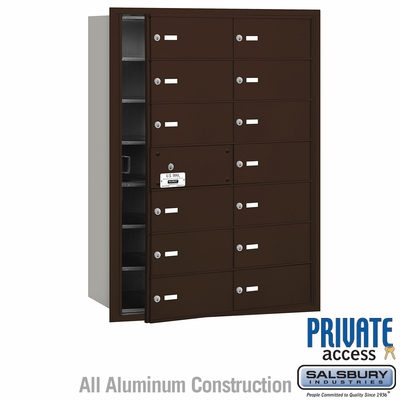 Salsbury 3614ZFP 4B Mailboxes 13 Tenant Doors Front Loading - Private Access