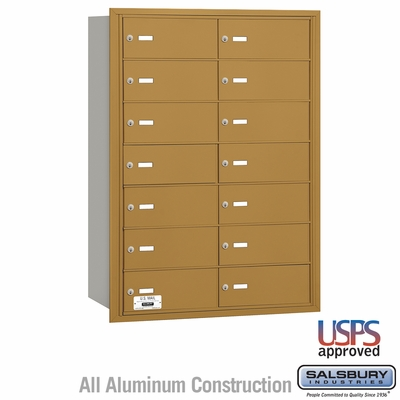 Salsbury 3614GRU 4B Mailboxes 14 Tenant Doors Rear Loading - USPS Access