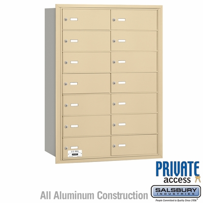Salsbury 3614SRP 4B Mailboxes 14 Tenant Doors Rear Loading - Private Access