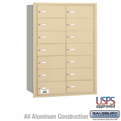 Salsbury 3614SRU 4B Mailboxes 14 Tenant Doors Rear Loading - USPS Access