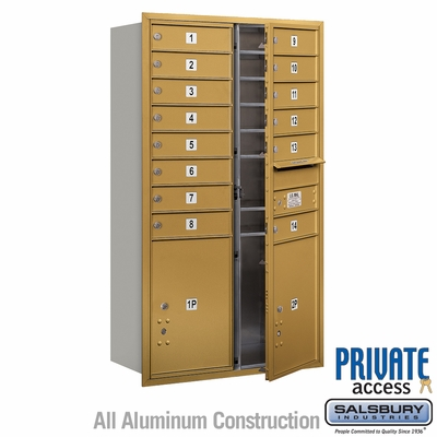 Salsbury 3713D-14GFP 4C Mailboxes 14 Tenant Doors Front Loading