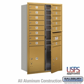 Salsbury 3713D-14GFU 4C Mailboxes 14 Tenant Doors Front Loading