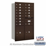 4C Mailboxes Rear Loading 13 Door High Unit