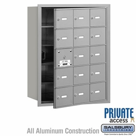 4B Mailboxes 15 Doors (14 Usable) Front Loading - Private Use