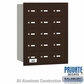 Salsbury 3615ZRP 4B Mailboxes 15 Tenant Doors Rear Loading - Private Access