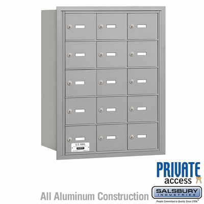 Salsbury 3615ARP 4B Mailboxes 15 Tenant Doors Rear Loading - Private Access
