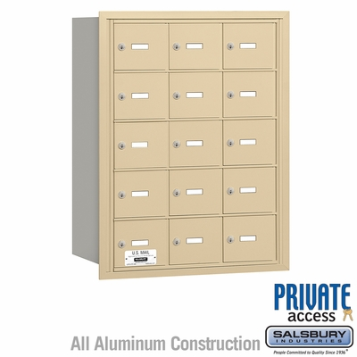 Salsbury 3615SRP 4B Mailboxes 15 Tenant Doors Rear Loading - Private Access