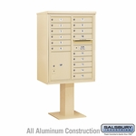 4C Pedestal Mailboxes with Parcel Lockers - 15 to 16 Doors