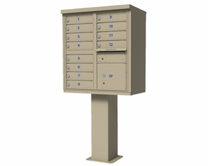 High Security CBU Mailboxes - 12 Doors 1 Parcel Unit