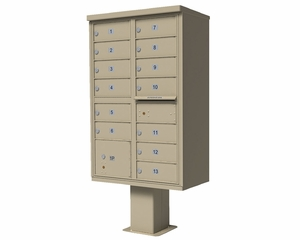 High Security CBU Mailboxes - 13 Doors 2 Parcel Units