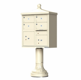 Traditional Decorative CBU Mailboxes - 4 Doors 2 Parcel Units