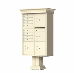Classic Decorative CBU Mailboxes - 8 Doors 4 Parcel Units