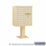4C Pedestal Mailboxes - 15 to 16 Doors