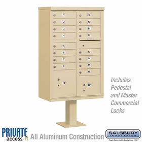 16 Door Cluster Mailboxes for Private Delivery