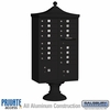 Salsbury 3316R-BLK-P 16 Door Regency Decorative Cluster Mailbox Black - Private Access