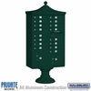 Salsbury 3316R-GRN-P 16 Door Regency Decorative Cluster Mailbox Green - Private Access