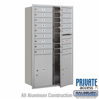 Salsbury 3715D-16AFP 4C Mailboxes 16 Tenant Doors Front Loading