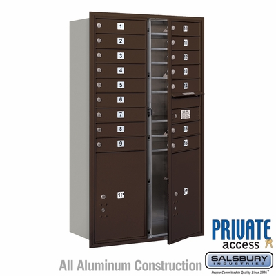 Salsbury 3715D-16ZFP 4C Mailboxes 16 Tenant Doors Front Loading