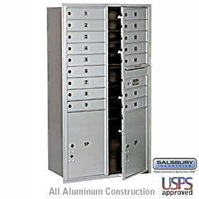 Salsbury 3715D-16AFU 4C Mailboxes 16 Tenant Doors Front Loading