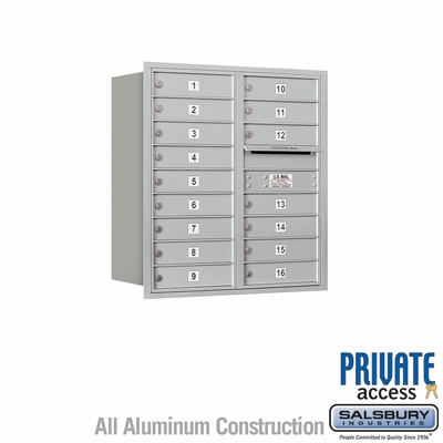 Salsbury 3709D-16ARP 4C Mailboxes 16 Tenant Doors Rear Loading