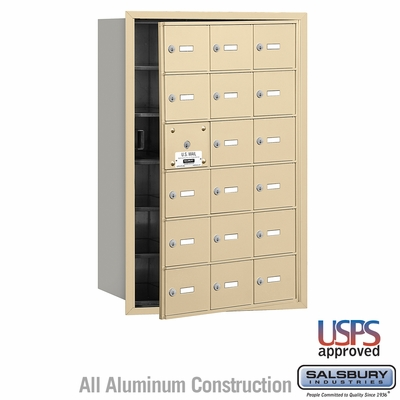 Salsbury 3618SFU 4B Mailboxes 17 Tenant Doors Front Loading - USPS Access