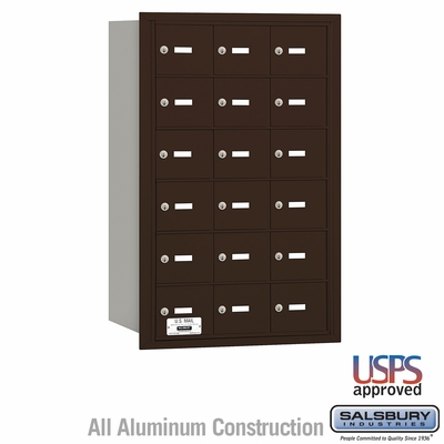 Salsbury 3618ZRU 4B Mailboxes 18 Tenant Doors Rear Loading - USPS Access
