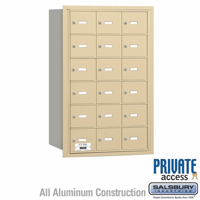 Salsbury 3618SRP 4B Mailboxes 18 Tenant Doors Rear Loading - Private Access