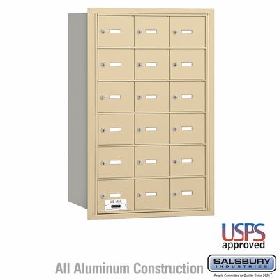 Salsbury 3618SRU 4B Mailboxes 18 Tenant Doors Rear Loading - USPS Access