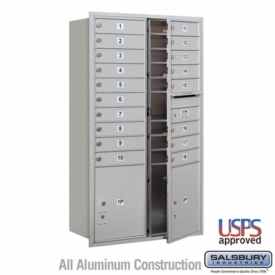 Salsbury 3715D-18AFU 4C Mailboxes 18 Tenant Doors Front Loading