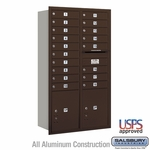4C Mailboxes Rear Loading 15 Door High Unit