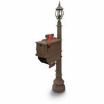 1812 Beaumont Mailbox with Lantern - Coffee