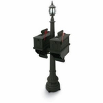 1812 Black Port Angeles Plastic Mailboxes with Lantern